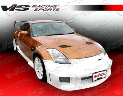 VIS Racing - Nissan 350Z VIS Racing Fuzion Side Skirts - 03NS3502DFUZ-004