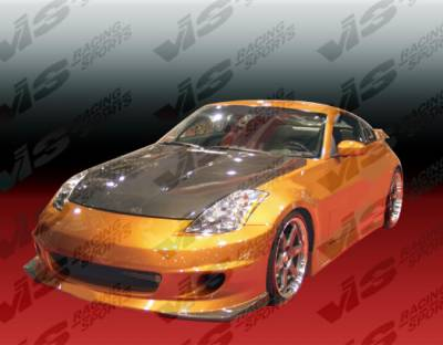 VIS Racing - Nissan 350Z VIS Racing Spike Side Skirts - 03NS3502DSPK-004