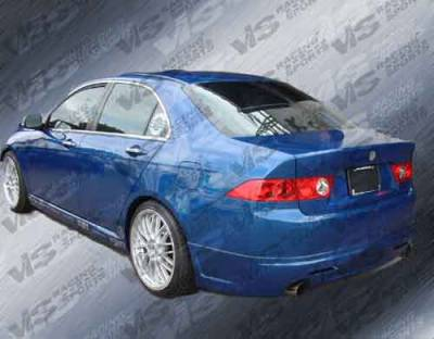 VIS Racing - Acura TSX VIS Racing K Speed Side Skirts - 04ACTSX4DKSP-004