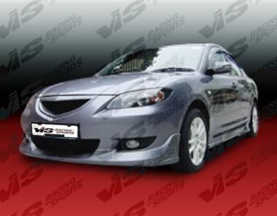 VIS Racing - Mazda 3 4DR VIS Racing K Speed Side Skirts - 04MZ34DKSP-004