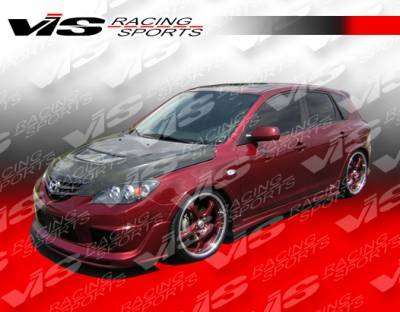 VIS Racing - Mazda 3 4DR VIS Racing Magnum Side Skirts - 04MZ34DMAG-004