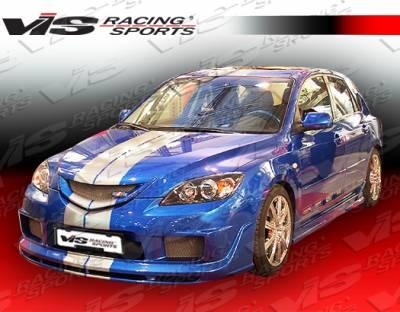 VIS Racing - Mazda 3 4DR HB VIS Racing K Speed-2 Side Skirts - 04MZ3HBKSP2-004