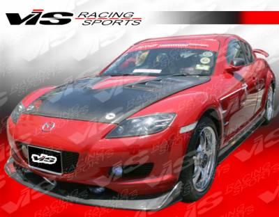 VIS Racing - Mazda RX-8 VIS Racing A Spec Side Skirt - Carbon Fiber - 04MZRX82DASC-004C