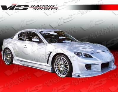 VIS Racing - Mazda RX-8 VIS Racing Invader Side Skirts - 04MZRX82DINV-004