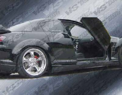 VIS Racing - Mazda RX-8 VIS Racing Razor Side Skirts - 04MZRX82DRAZ-004