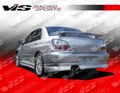VIS Racing - Subaru WRX VIS Racing Z-Speed Type 1 Side Skirts - 04SBWRX4DZSP1-004