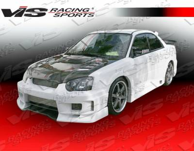 VIS Racing - Subaru WRX VIS Racing Z-Speed Type 2 Side Skirts - 04SBWRX4DZSP2-004