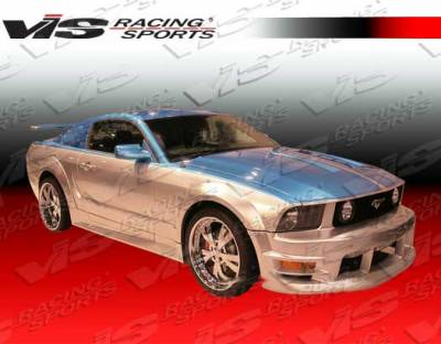 VIS Racing - Ford Mustang VIS Racing Burn out Side Skirts - 05FDMUS2DBO-004