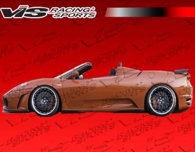 VIS Racing - Ferrari F430 VIS Racing Euro Tech Side Skirts - 05FR4302DET-004