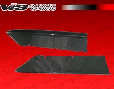 VIS Racing - Ferrari F430 VIS Racing N-Tech Carbon Fiber Add-On Side Skirts - 05FR4302DNTH-004C