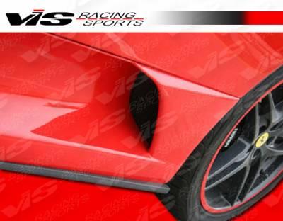 VIS Racing - Ferrari F430 VIS Racing Scuderia Side Skirt - Carbon Fiber - 05FR4302DSCU-004C
