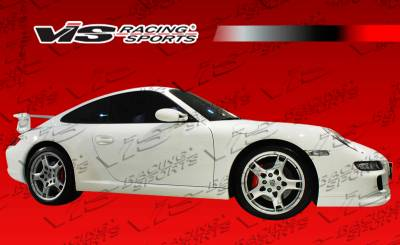 VIS Racing - Porsche 911 VIS Racing D3 Side Skirts - 05PS9972DD3-004
