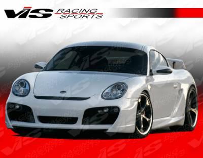 VIS Racing - Porsche Boxster VIS Racing A-Tech GT Side Skirts - 05PSBOX2DATHGT-004