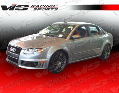 VIS Racing - Audi A4 VIS Racing RS4 Side Skirts - 06AUA44DRS4-004