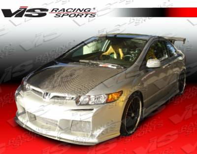 VIS Racing - Honda Civic 2DR VIS Racing Laser Side Skirts - 06HDCVC2DLS-004