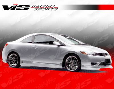VIS Racing - Honda Civic 2DR VIS Racing Touring 2 Side Skirts - 06HDCVC2DTOU2-004