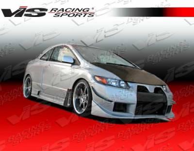 VIS Racing. - Honda Civic 2DR VIS Racing Wide body GT Side Skirts - 06HDCVC2DWBGT-004