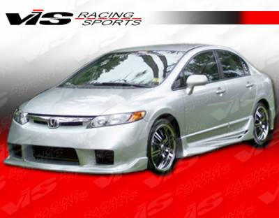 VIS Racing - Honda Civic 4DR VIS Racing Alfa Side Skirts - 06HDCVC4DALF-004