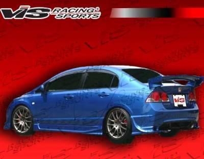 VIS Racing - Honda Civic 4DR VIS Racing Ballistix Side Skirts - 06HDCVC4DBX-004