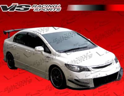 VIS Racing - Honda Civic VIS Racing J Speed Side Skirts - 06HDCVC4DJJSP-004