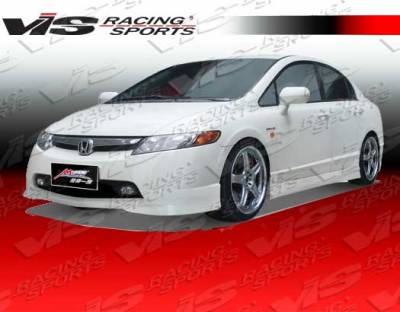 VIS Racing. - Honda Civic 4DR VIS Racing Techno R-1 Side Skirts - 06HDCVC4DTNR1-004P