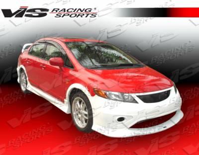 VIS Racing - Honda Civic 4DR VIS Racing Type R Concept Side Skirts - 06HDCVC4DTRC-004