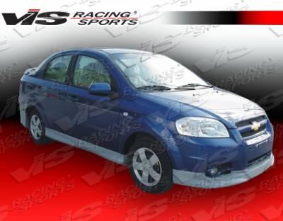 VIS Racing - Chevrolet Aveo VIS Racing Fuzion Side Skirts - 07CHAVO4DFUZ-004