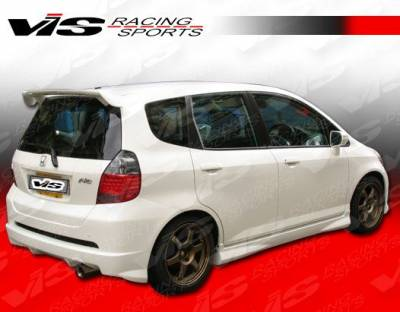VIS Racing - Honda Fit VIS Racing Techno R-1 Side Skirts - 07HDFIT4DTNR1-004