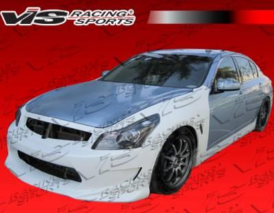 VIS Racing - Infiniti G35 4DR VIS Racing AMS GT Side Skirts - 07ING354DAMSGT-004