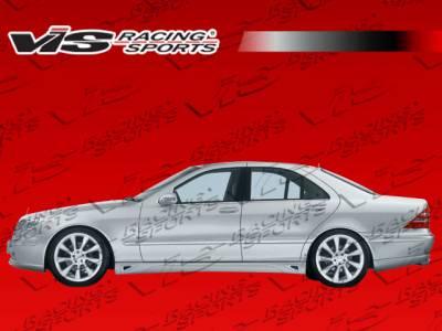 VIS Racing - Mercedes-Benz S Class VIS Racing Laser Side Skirts - 07MEW2214DLS-004