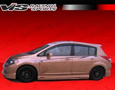 VIS Racing - Nissan Versa VIS Racing VIP Side Skirts - 07NSVER4DVIP-004P