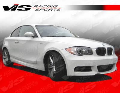 VIS Racing - BMW 1 Series VIS Racing R Tech Side Skirts - 08BME822DRTH-004