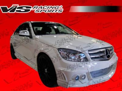 VIS Racing - Mercedes-Benz C Class VIS Racing VIP Side Skirts - 08MEC634DVIP-004