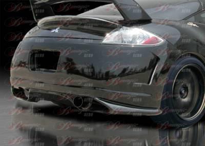 AIT Racing - Mitsubishi Eclipse AIT Racing Blackout-1 Style B-Magic Rear Bumper - ME06BMBKORB