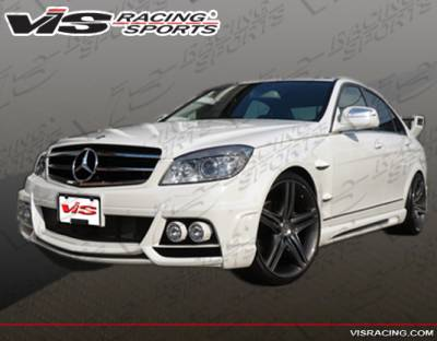 VIS Racing - Mercedes-Benz C Class VIS Racing VIP Side Skirts - 08MEW2044DVIP-004