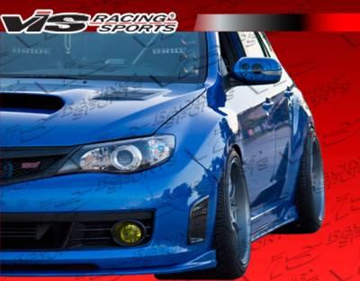 VIS Racing - Subaru WRX VIS Racing Z Speed Side Skirts - 08SBWRX4DZSP-004