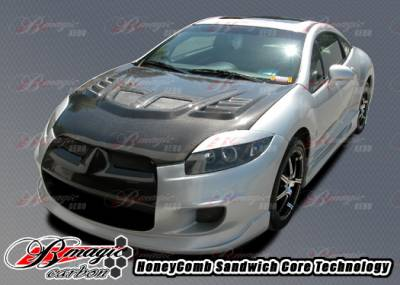 AIT Racing - Mitsubishi Eclipse AIT Racing R1 Style Carbon Fiber Hood - ME06BMR1SCFH