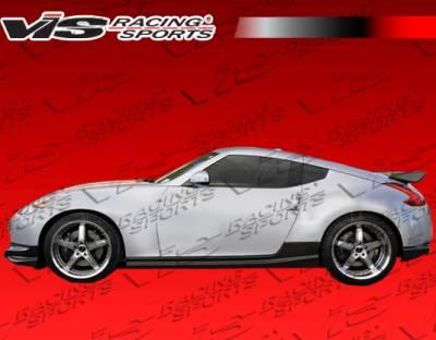 VIS Racing - Nissan 370Z VIS Racing Techno R Side Skirt - Carbon Fiber - 09NS3702DTNR-004C
