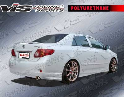 VIS Racing - Toyota Corolla VIS Racing Fuzion Side Skirts - 09TYCOR4DFUZ-004P