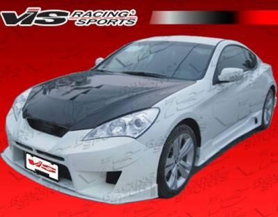 VIS Racing - Hyundai Genesis VIS Racing GNX Side Skirt - 10HYGEN2DGNX-004