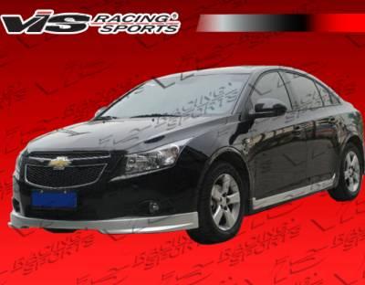 VIS Racing - Chevrolet Cruze VIS Racing VIP Side Skirts - 11CHCRU4DVIP-004