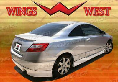 Wings West - Honda Civic Wings West Type R Side Skirts - Left & Right - 490215L&R