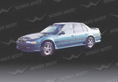 Wings West - Honda Accord 4DR Wings West Side Skirts - Left & Right - Fiberglass - 49208L&R