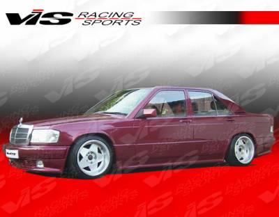 VIS Racing - Mercedes-Benz C Class VIS Racing EVO Widebody Side Skirts - 84MEW2014DEVOWB-004
