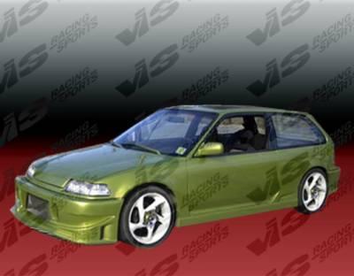 VIS Racing - Honda CRX VIS Racing TSC Side Skirts - 88HDCRXHBTSC-004