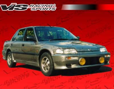 VIS Racing - Honda Civic 4DR VIS Racing Techno R Side Skirts - 88HDCVC4DTNR-004