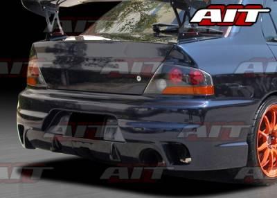 AIT Racing - Mitsubishi Lancer AIT I-Spec Style Rear Bumper - MEVO03HIINGRB