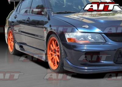 AIT Racing - Mitsubishi Lancer AIT I-Spec Style Side Skirts - MEVO03HIINGSS