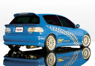Wings West - Honda Civic HB Wings West Racing Series Side Skirts - Left & Right - 890065L&R