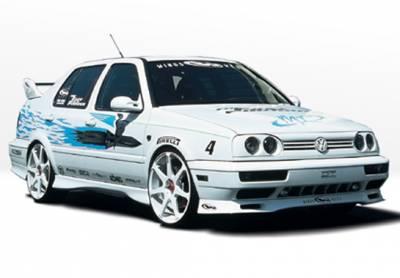 VIS Racing - Volkswagen Jetta VIS Racing Custom Style Left Side Skirt - 890106L